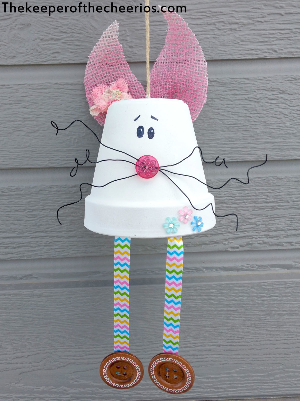 Clay Pot Bunny Wind Chime The Keeper Of The Cheerios