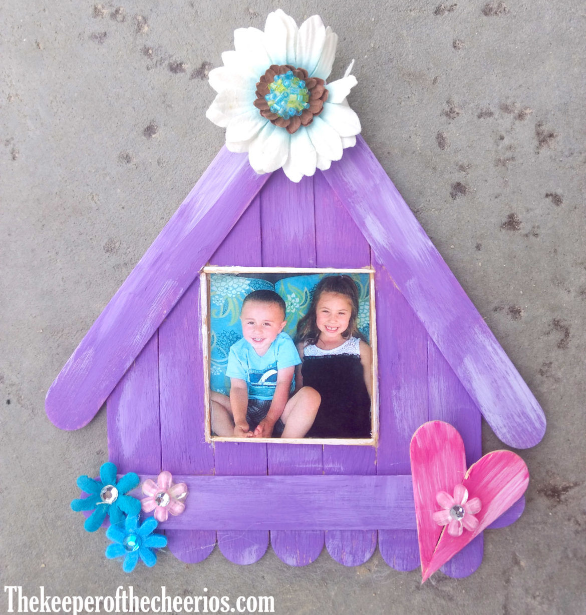 Craft Stick Bird House Photo Frame The Keeper Of The