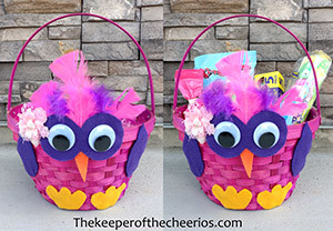 owl Easter basket smm