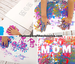 Fingerpainted mom art s