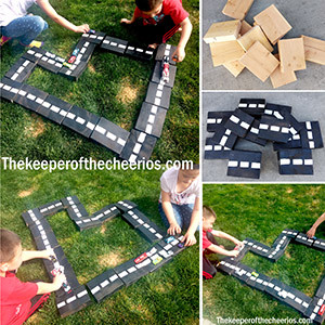 diy wood block backyard racetrack smm