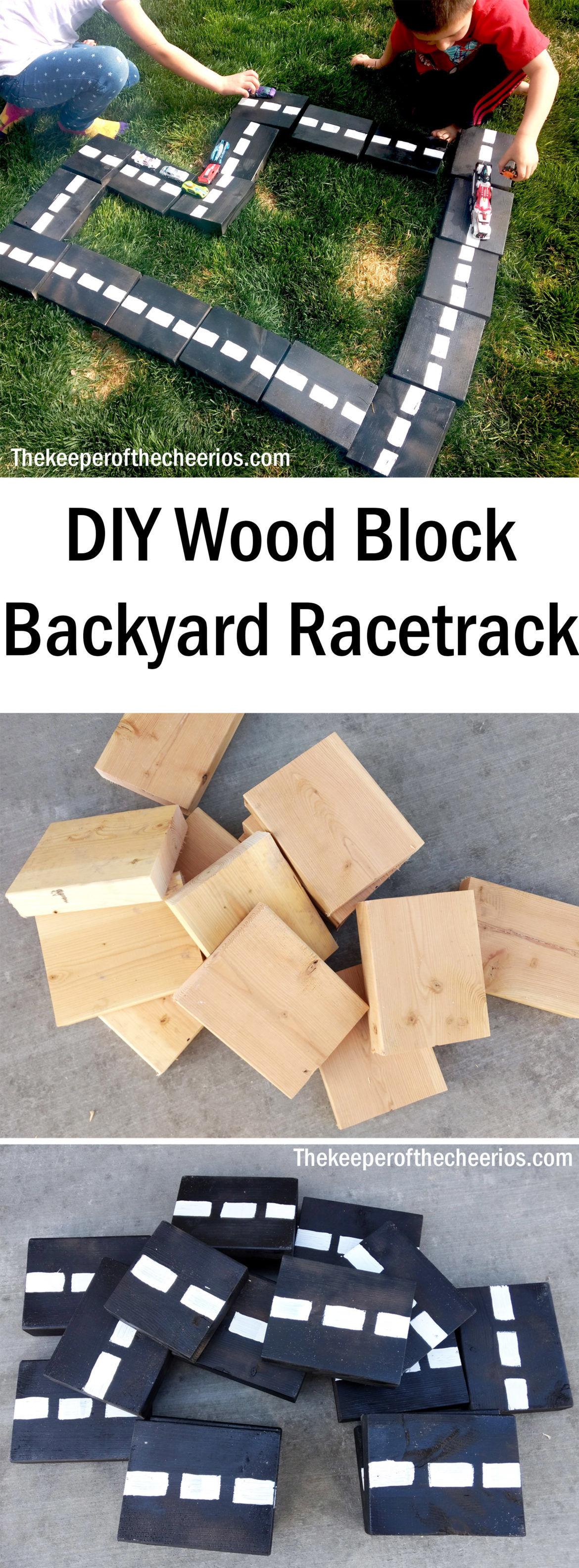 Diy Wood Block Backyard Racetrack The Keeper Of The Cheerios