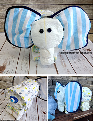 Elephant Diaper Cake The Keeper Of The Cheerios