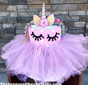 Unicorn Diaper Cake The Keeper Of The Cheerios