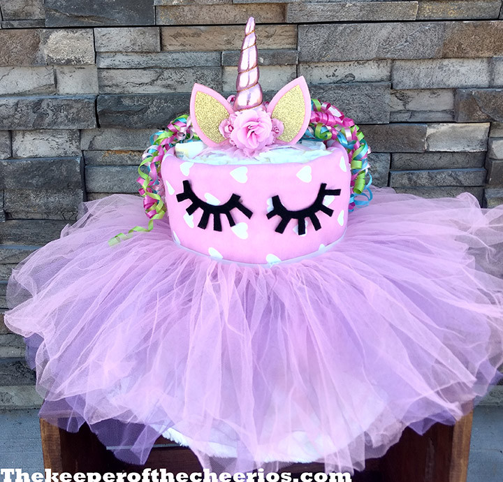 Unicorn Diaper Cake The Keeper Of The Cheerios