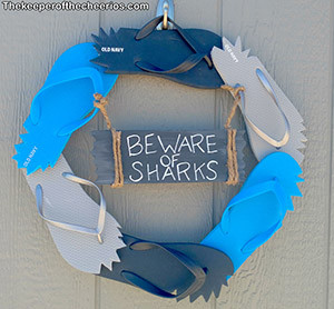 shark flip flop wreath smm
