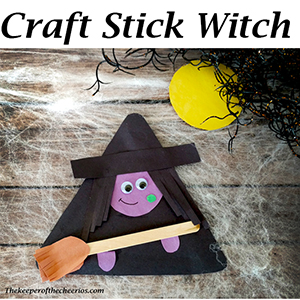 popsicle stick witch