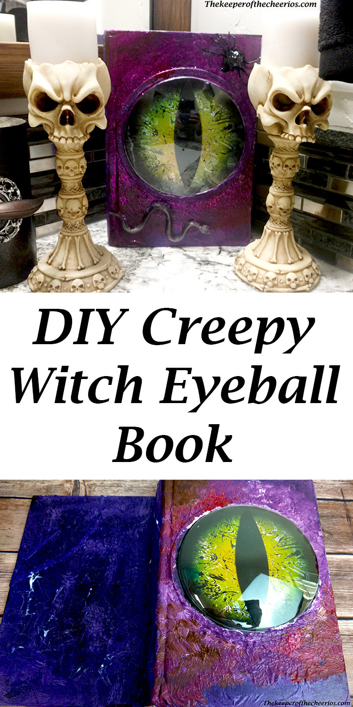 DIY Creepy Witch Eyeball Book