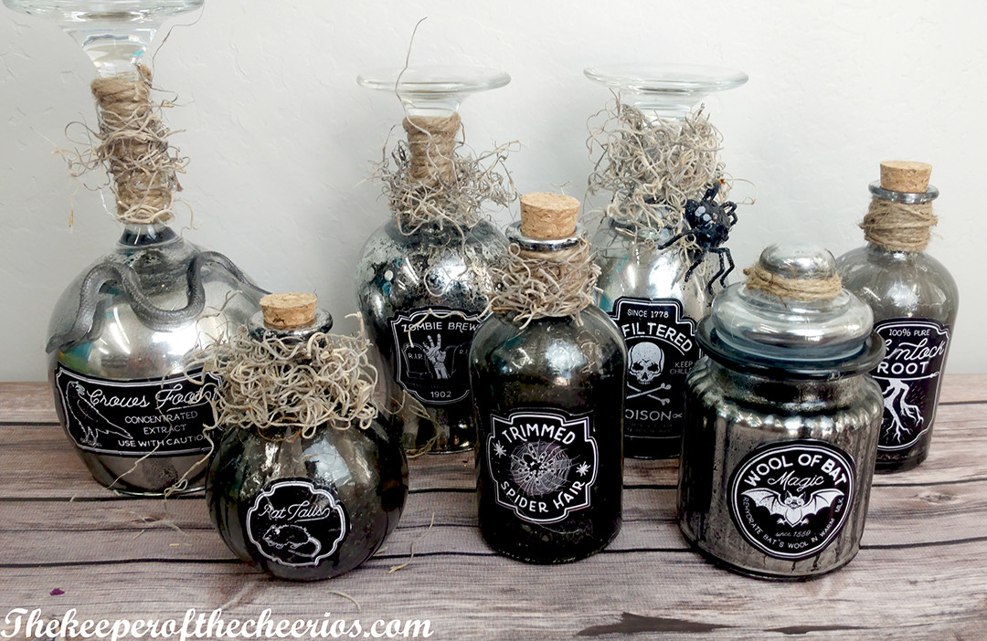 Diy Halloween Apothecary Jars The Keeper Of The Cheerios