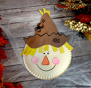 paper plate scarecrow smm