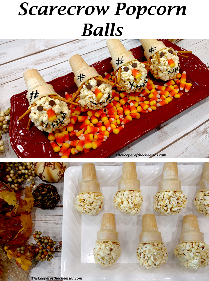Silly Scarecrow popcorn balls
