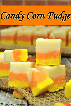 Candy Corn Striped Fudge