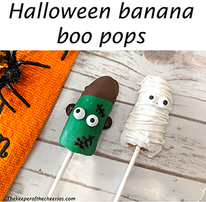 Halloween Bananna boo pops smmm
