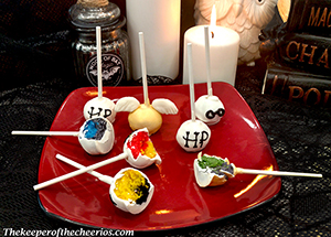 Harry Potter Sorting hat cake pops smmmmm