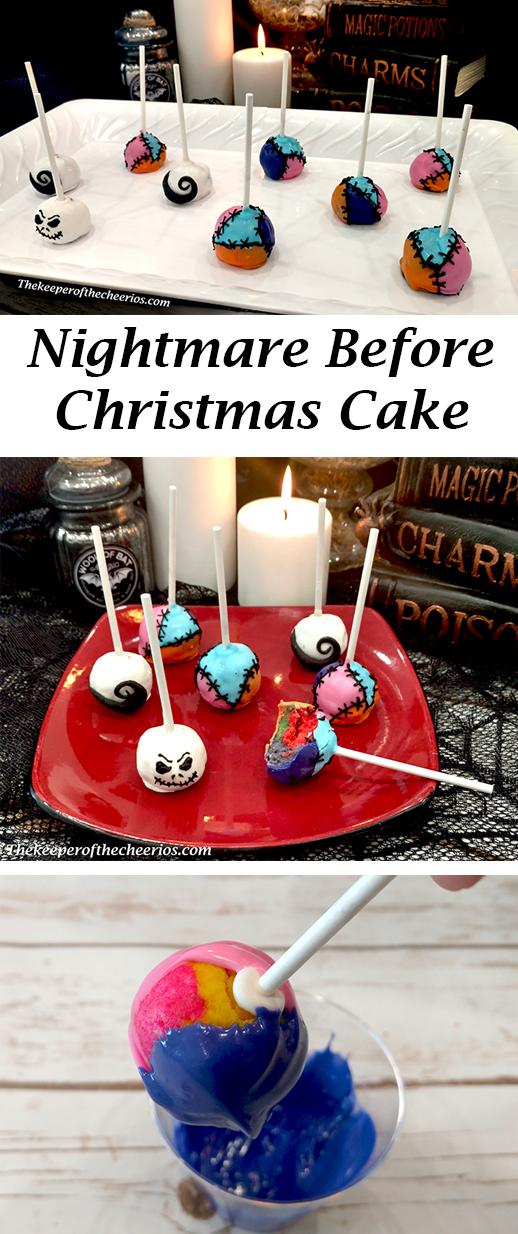 Groovy Nightmare Before Christmas Cake Pops The Keeper Of The Cheerios Funny Birthday Cards Online Elaedamsfinfo