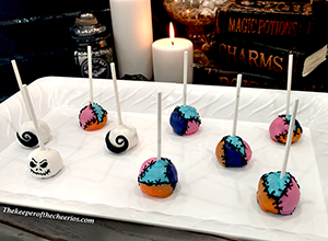 Nightmare before christmas halloween cake pops smmm
