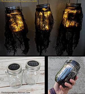 Spooky Lighted Halloween Mason Jars smmm