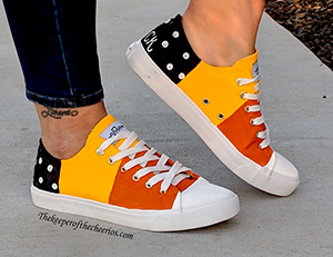 candy corn halloween shoes smm