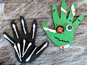Zombie and Skeleton handprints