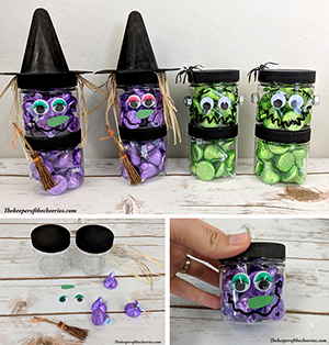 Stacked Halloween Jars