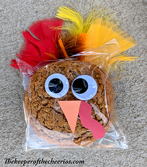 Prepackaged Thanksgiving Turkey Cookies