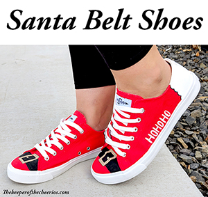 DIY Santa Belt Shoes