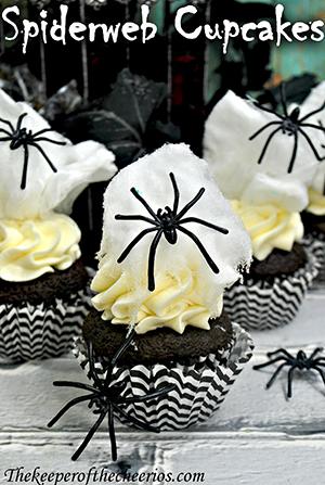spiderweb cupcakes smm