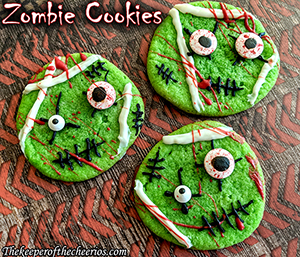 Creepy Zombie Cookies
