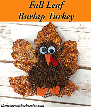 Fall Leaf Burlap Turkey