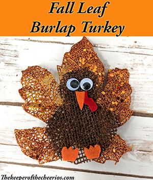 fall leaf burlap turkey smm