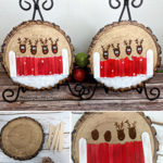 fingerprint rudolph wood slice sm
