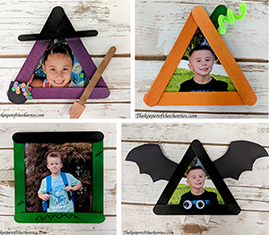 halloween craft stick photo frames sm
