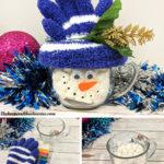 hot cocoa snowman mug gift sm