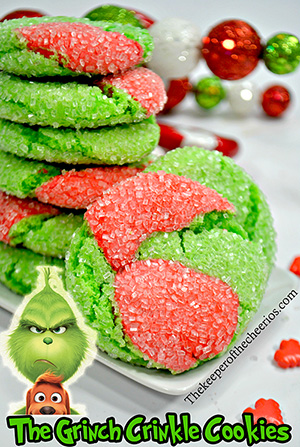 Grinch Crinkle cookiessmm