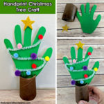 Handprint christmas tree smm
