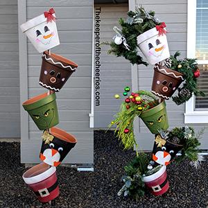 christmas topsy turvy pots smmm