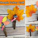 clothespin turkey craft sm