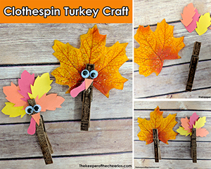 clothespin turkey craft sm