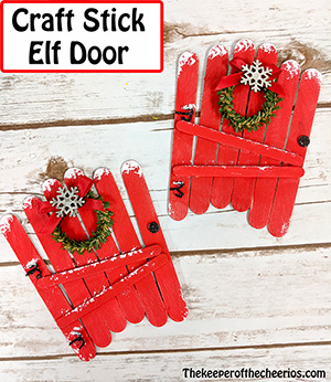 craft stick elf door smm