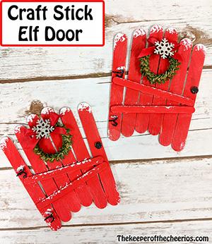 craft stick elf door smm