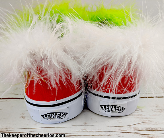 Diy Grinch Shoes The Keeper Of The Cheerios
