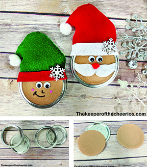 mason jar lid ornaments smm