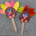 silly craft stick turkey sm