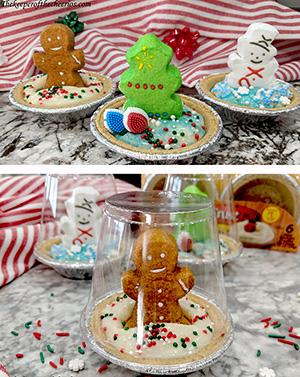 Christmas Pudding Pie Snow Globes