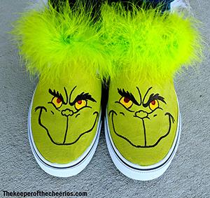 DIY Grinch Shoes