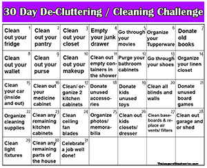30 Day cleaning challenge smm