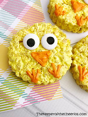 easter chick rice krispies smm
