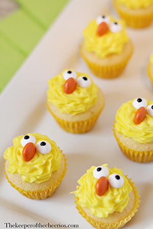 easter chick cupcake smm