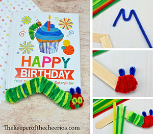 hungry caterpillar craft sticks smm
