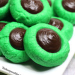 st patricks day mint cream button cookies smm